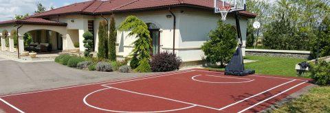Acoperire elastica permanenta pentru terenuri de sport